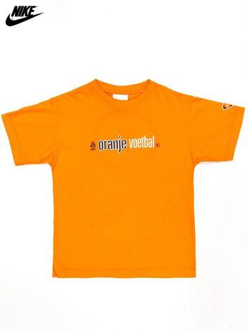 NIKE Pomarańczowy t-shirt chłopięcy KNVB Oranje Voetbal