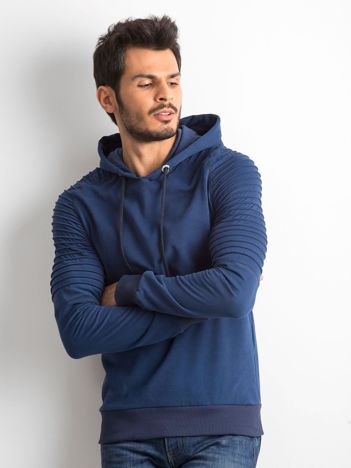 Niebieska bawełniana bluza męska