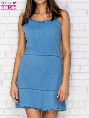Niebieska denimowa sukienka na ramiączkach