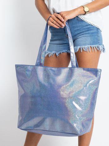 Niebieska duża torba damska