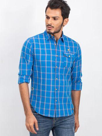 Niebieska koszula męska Stronger