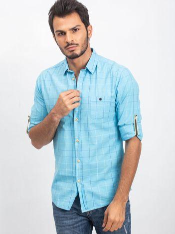 Niebieska koszula męska Wanted