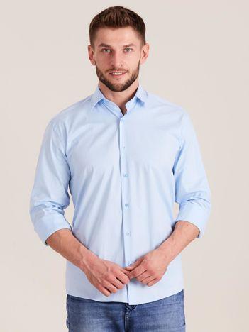 Niebieska koszula męska regular
