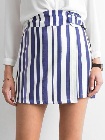 Niebieska spódnica w paski