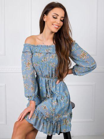 Niebieska sukienka Dominique RUE PARIS