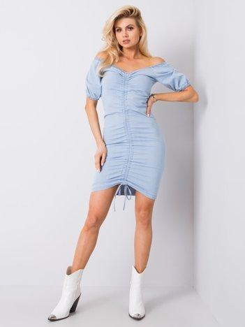 Niebieska sukienka hiszpanka Marcela