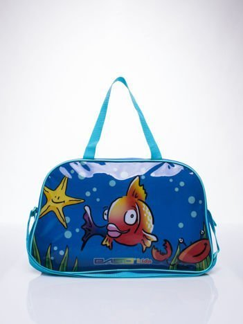 Niebieska torba szkolna DISNEY w rybki