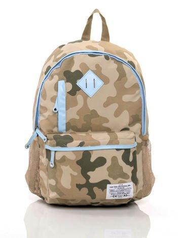 Niebieski plecak szkolny z motywem moro