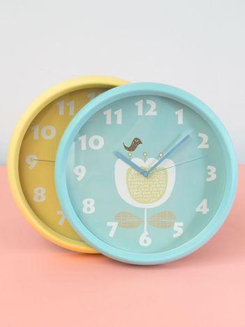 Niebieski zegar ścienny