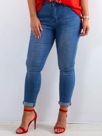 Niebieskie jeansy Feeling PLUS SIZE