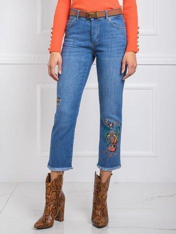 Niebieskie jeansy Jenny RUE PARIS