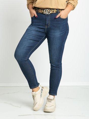 Niebieskie jeansy plus size Lucia