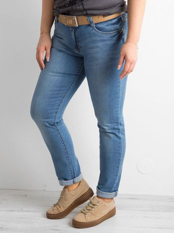 Niebieskie jeansy regular PLUS SIZE