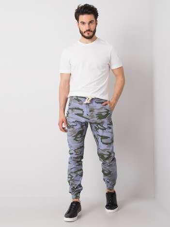 Niebieskie-khaki spodnie męskie moro Luke