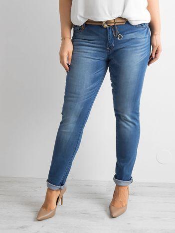 Niebieskie spodnie dżinsowe PLUS SIZE