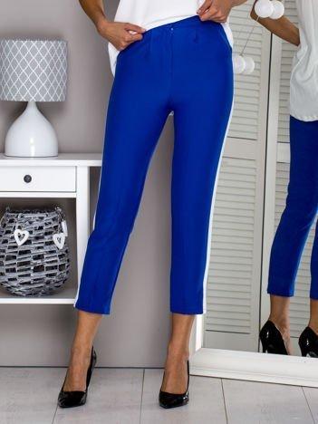Niebieskie spodnie z lampasami