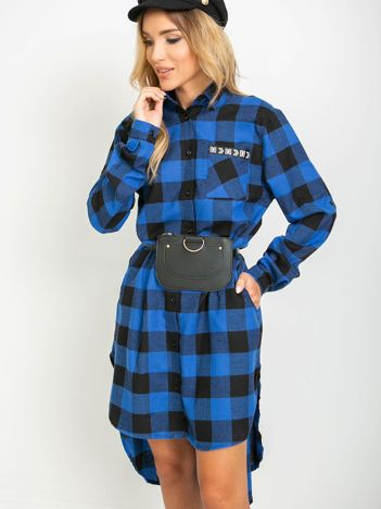 Niebiesko-czarna sukienka Second