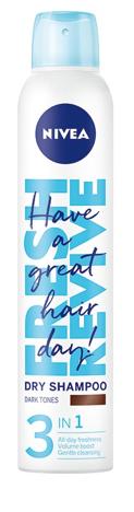 Nivea Fresh Revive Suchy Szampon do włosów 3in1 Dark (dla brunetek) 200 ml