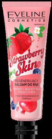 Nowość! EVELINE TRUSKAWKOWY REGENERUJĄCY BALSAM DO RĄK Strawberry Skin 50 ML