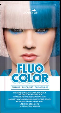 Nowość! JOANNA Fluo Color Szamponetka koloryzująca Turkus 35 g