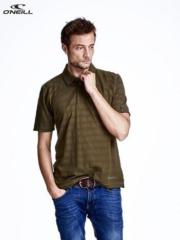 O'NEILL Khaki t-shirt męski z nadrukiem na plecach