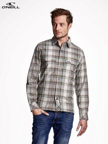 O'NEILL Zielona koszula męska w kratę z kieszonkami
