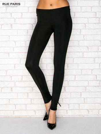 Ocieplane legginsy czarne