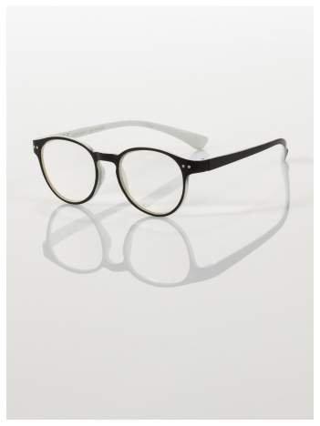 Okulary korekcyjne  +2.5 D dwukolorowe ,do czytania, stylizowane na RAY BAN +GRATIS PLASTIKOWE ETUI I ŚCIERECZKA Z MIKROFIBRY