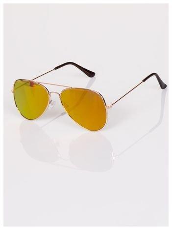 Okulary przeciwsłoneczne AVIATOR złote pilotki lustrzanki zawsze na czasie  !