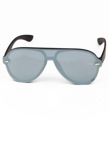 Okulary przeciwsłoneczne typu AVIATORY srebrne
