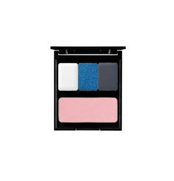 PIERRE RENE Paletka Glamour Blue na 3 cienie i róż PMS