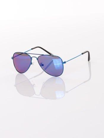 PILOTKI AVIATORY Z LUSTREM Stylowe okulary dziecięce z filtrami UV