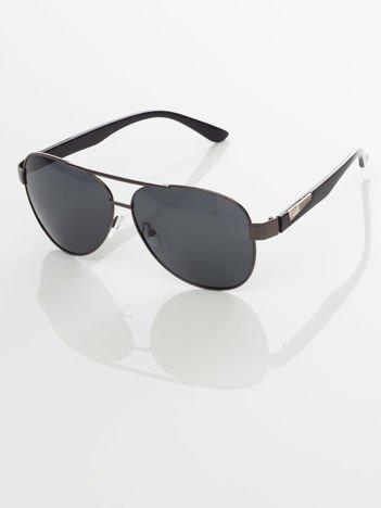 POLARYZACJA- męskie okulary przeciwsłoneczne 4SPY -pilotki  ,GRATISY