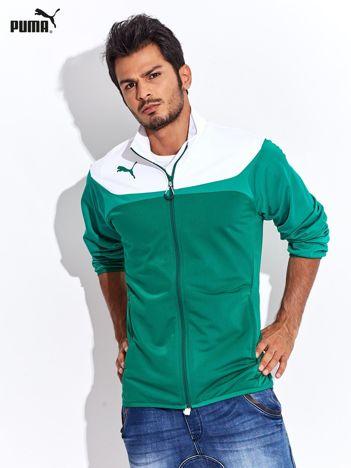 PUMA Biało-zielona rozpinana bluza męska sportowa