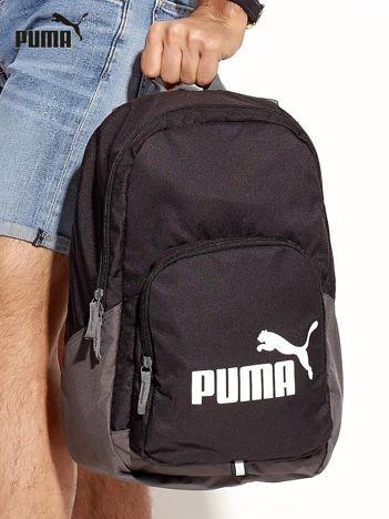 PUMA Czarny plecak z kieszenią na suwak