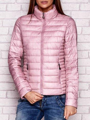 Pikowana kurtka przejściowa różowa