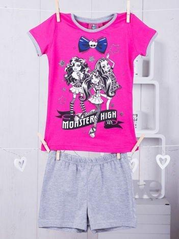Piżama dziewczęca z nadrukiem MONSTER HIGH fuksjowa