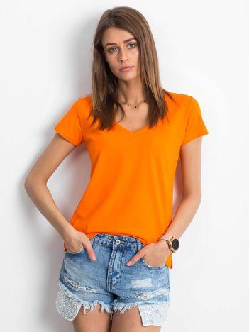 Pomarańczowy t-shirt Square