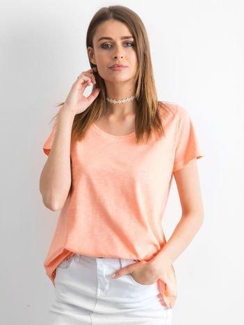 Pomarańczowy t-shirt damski basic