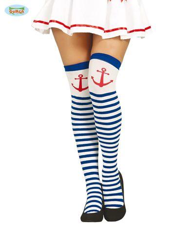 Pończochy w stylu marynarskim
