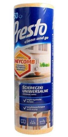 Presto Uniwersalne ściereczki czyszczące Honeycomb - żółte  1op.- 50 szt rolka