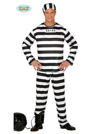 Przebranie dla dorosłych na imprezę Więzień