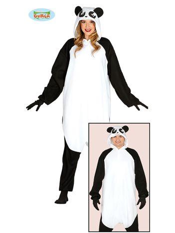 Przebranie karnawałowe Panda dla dorosłych z kapturem