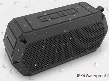 Q-touch Wodoodporny pływający głośnik bluetooth 4.2 Moc 2x5W Odtwarza muzykę do 8h Kolor szary