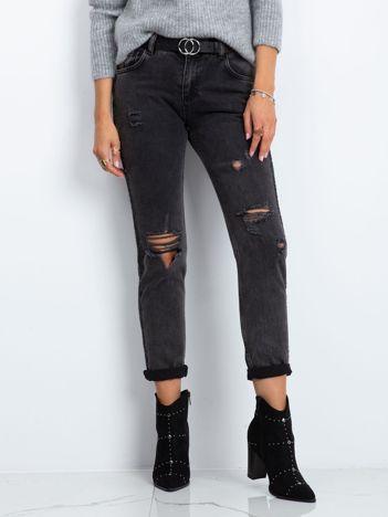 RUE PARIS Czarne jeansy Verdi
