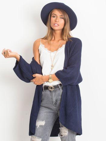RUE PARIS Granatowy sweter Spotlight