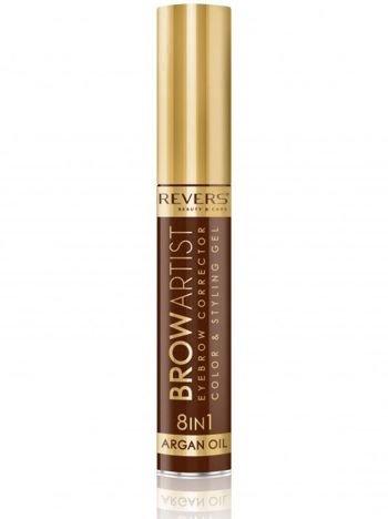 Revers Korektor do brwi BROW ARTIST 8w1 argan oil - Dark Brown 10 ml