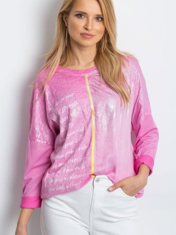 Różowa bluzka Polarising