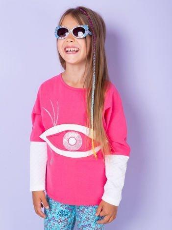 Różowa bluzka dla dziewczynki z bawełny
