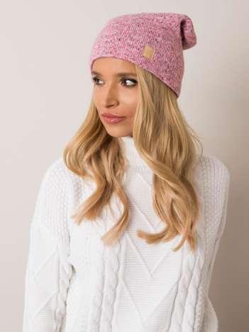 Różowa czapka damska RUE PARIS